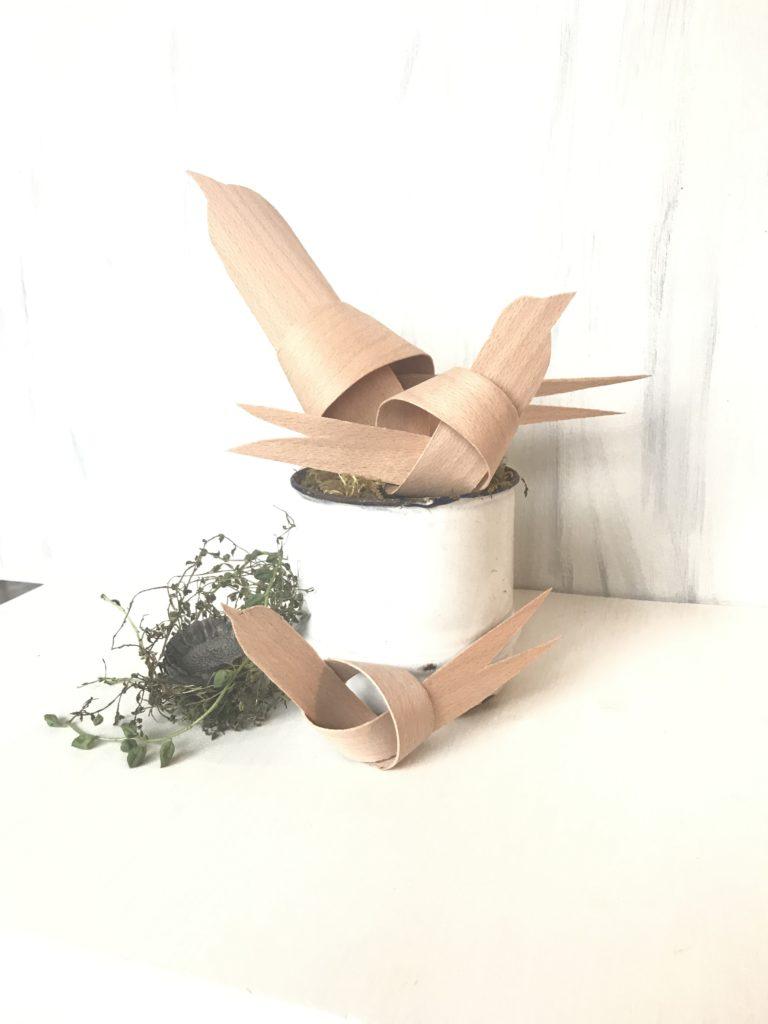 Furnierholz-Vögel