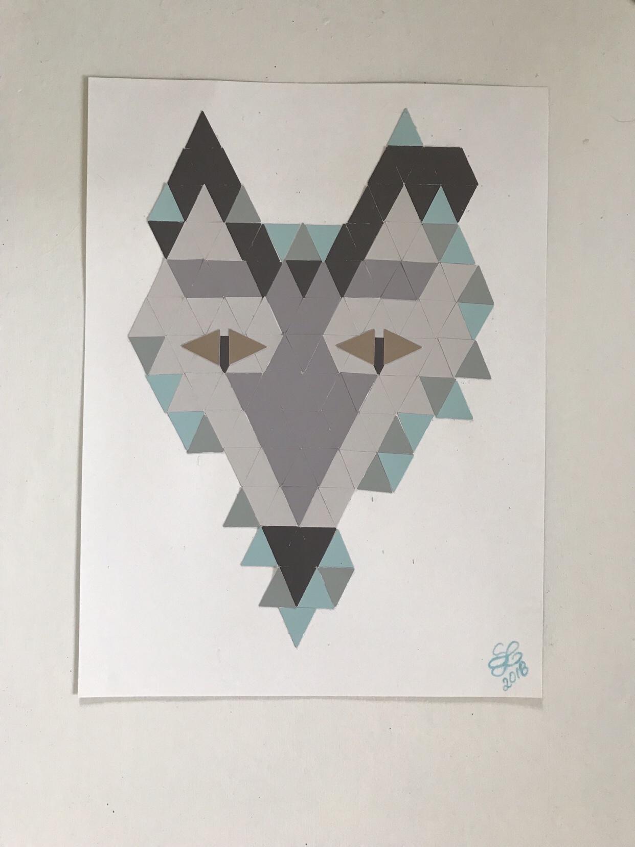 DIY: Tierische Farbkarten-Collage