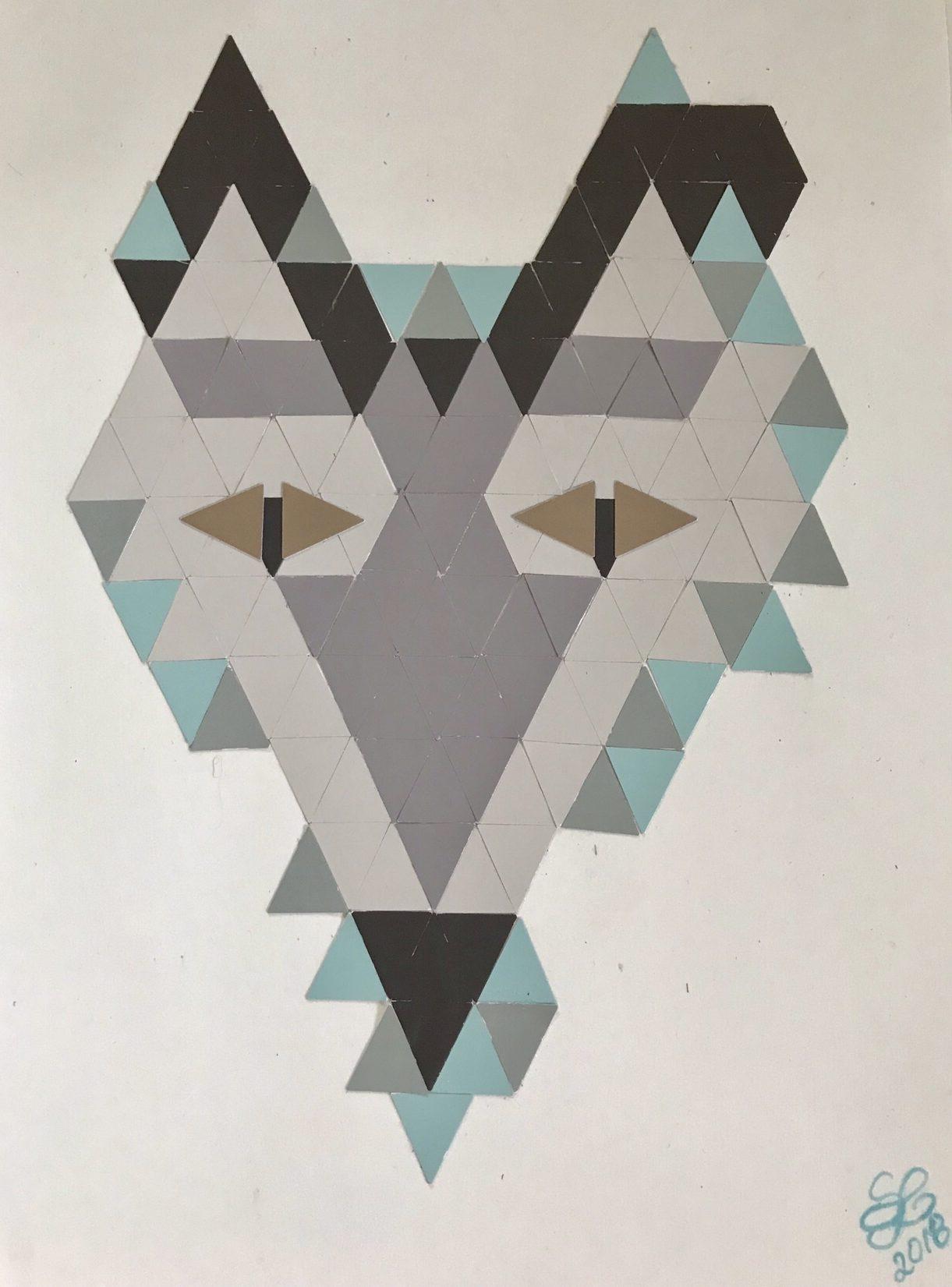 DIY: Tierische Farbkarten-Collage basteln, Basteln mit Papier. #Chalet8, #Farbkarten