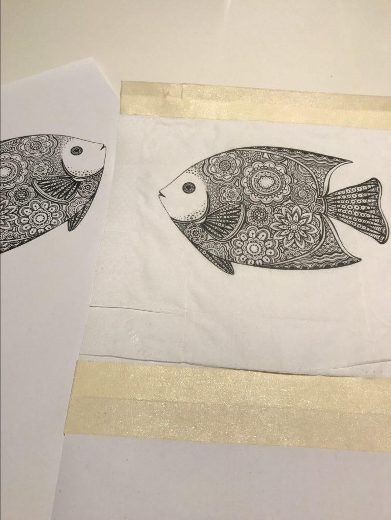 Serviettentechnik, Motiv auf Taschentuch drucken