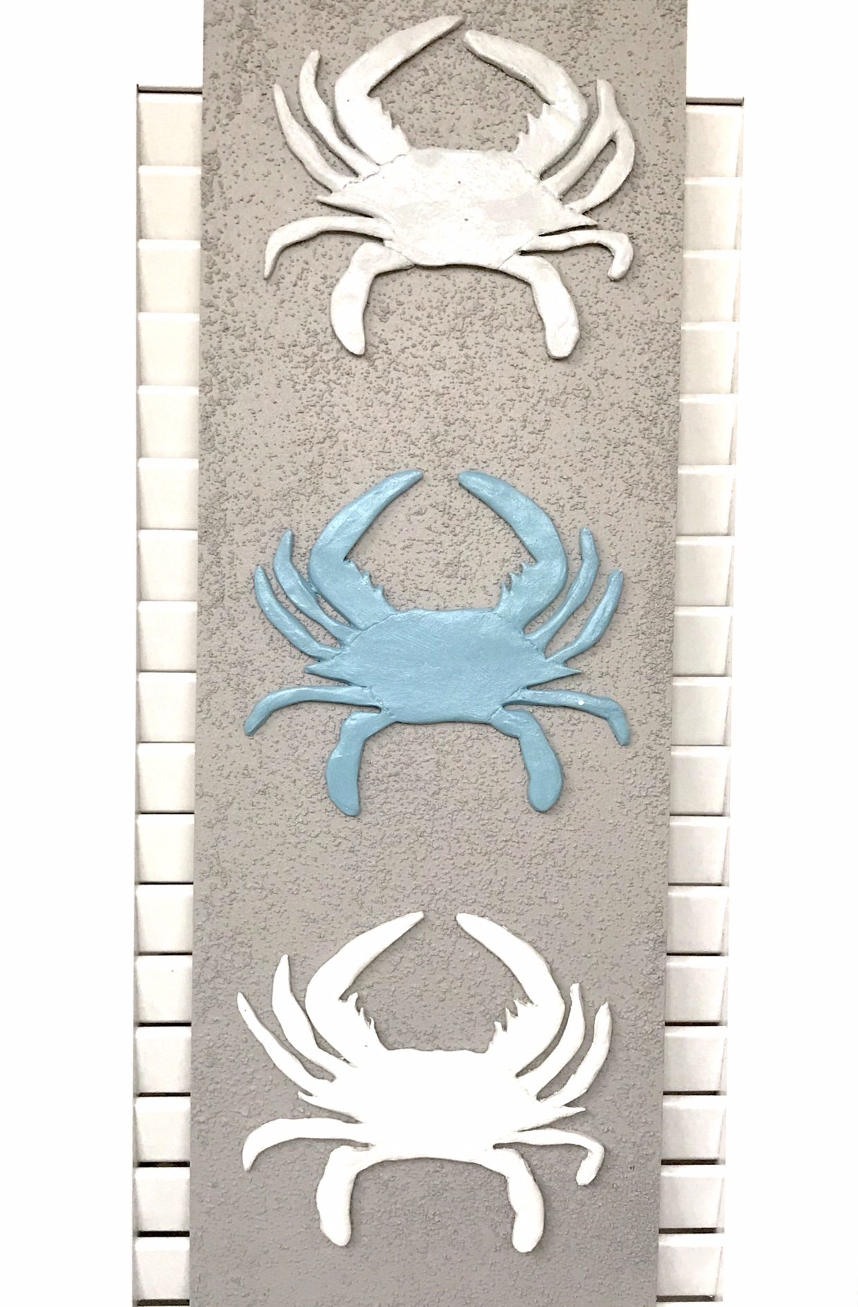 Krabben aus Modelliermasse; Maritime Deko aus lufttrocknemdem Ton basteln, Sommerdeko selber machen; #Chalet8, #Krabben