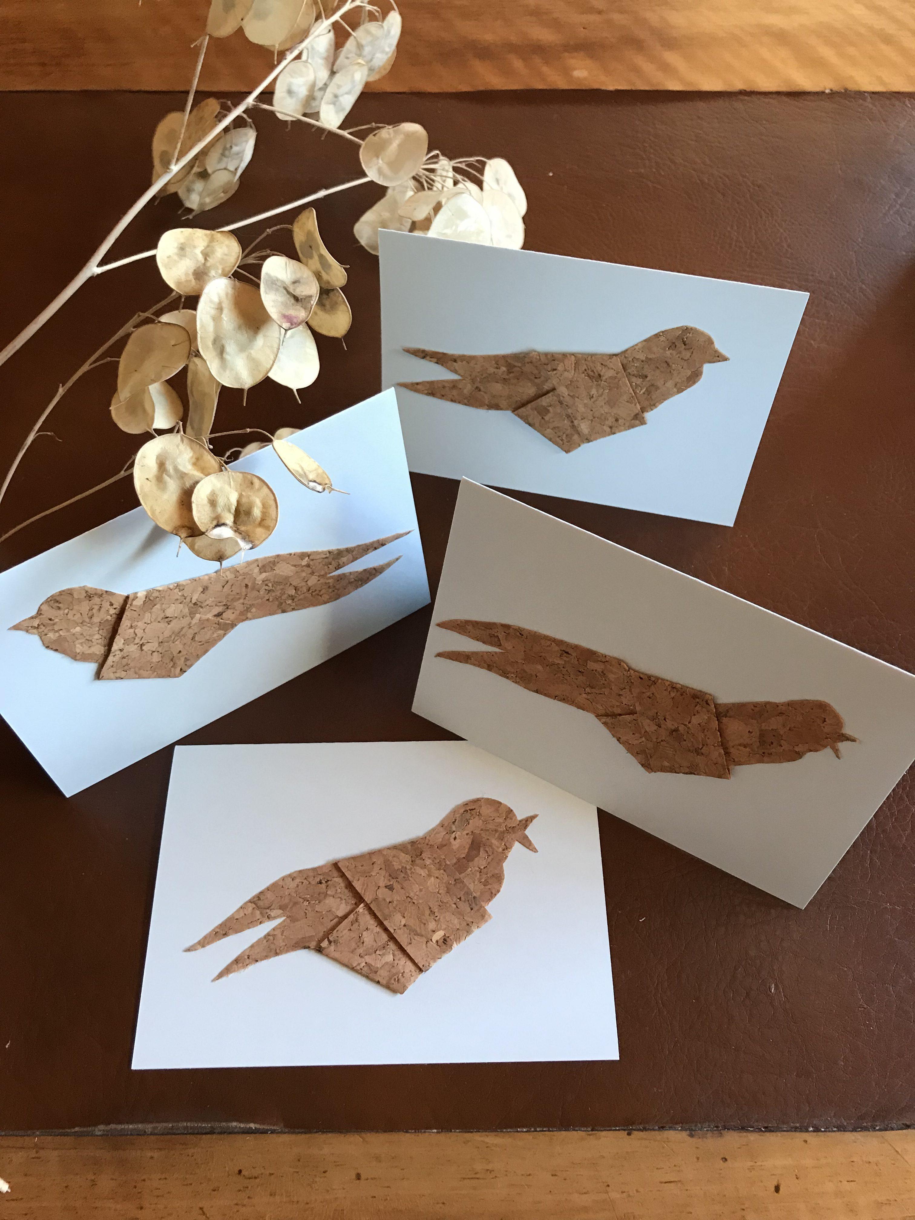 DIY: Grußkarte mit Korkvogel