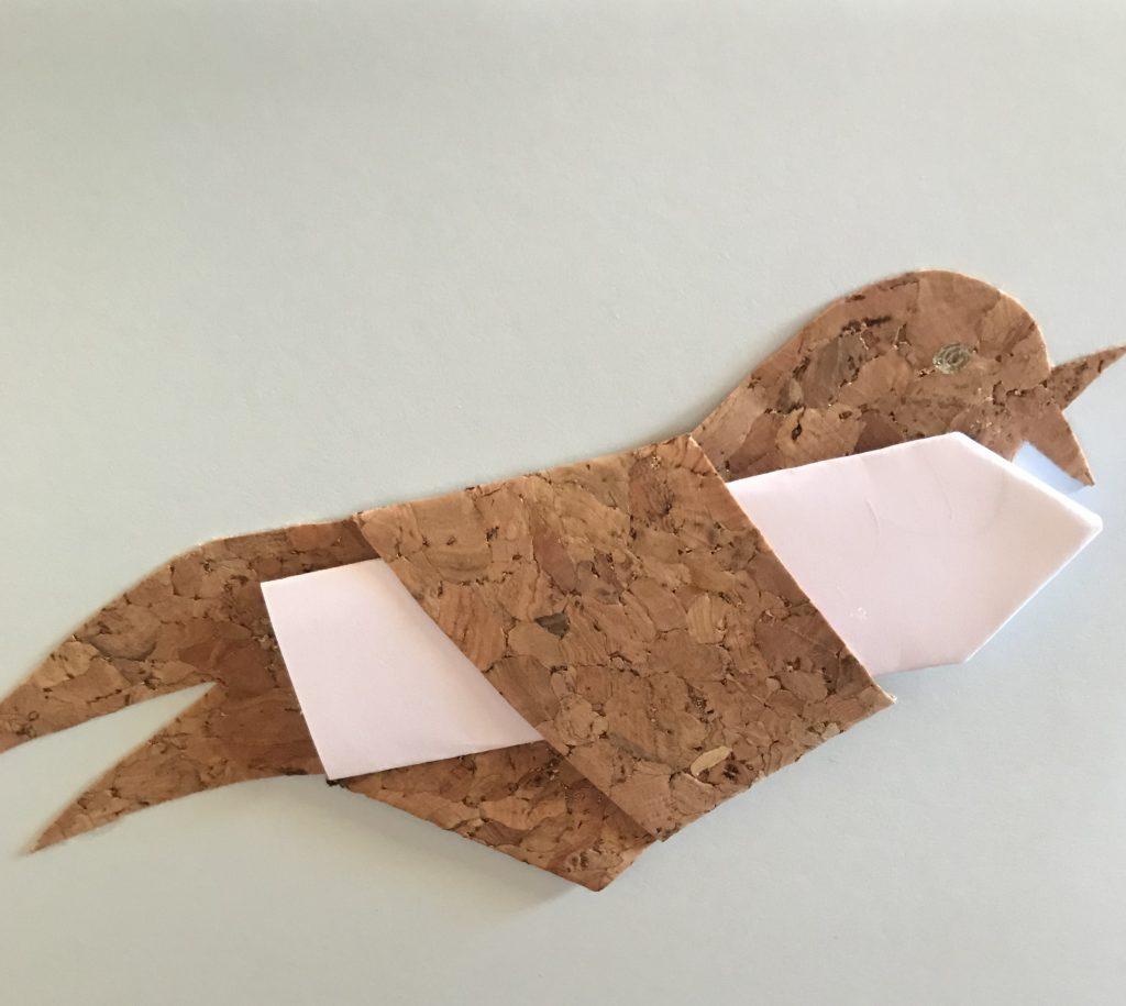 DIY: Korkvogel-Grußkarte