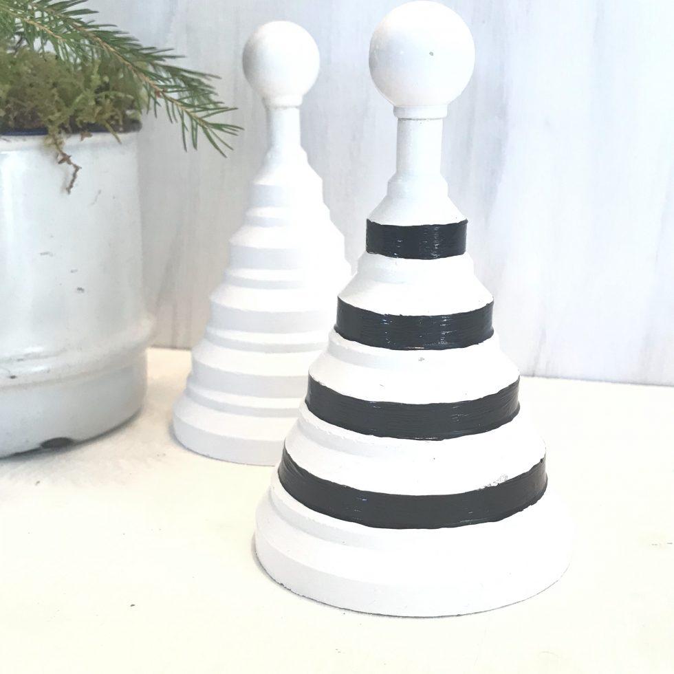 DIY: Feine Tannenbäumchen aus Beton oder Gips selber machen