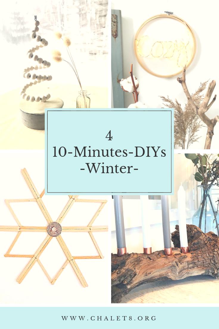 10-Minuten-DIY für den Winter, DIY 10 minutes, Winterdeko, DIY, Winter, Deko, #Chalet8, #10MinutenDIY