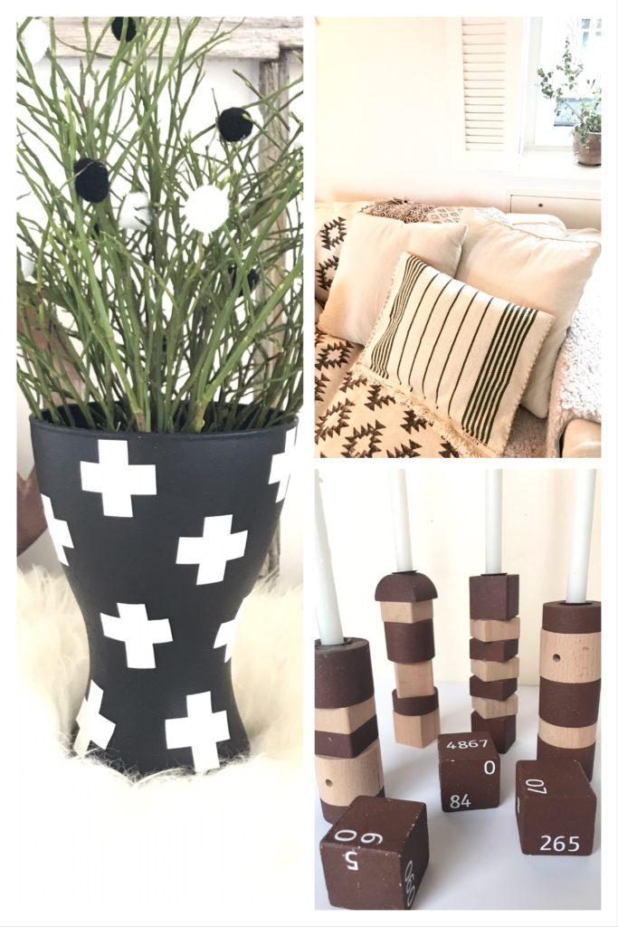 3 IKEA Hacks Vase, Kissen, Kerzenständer