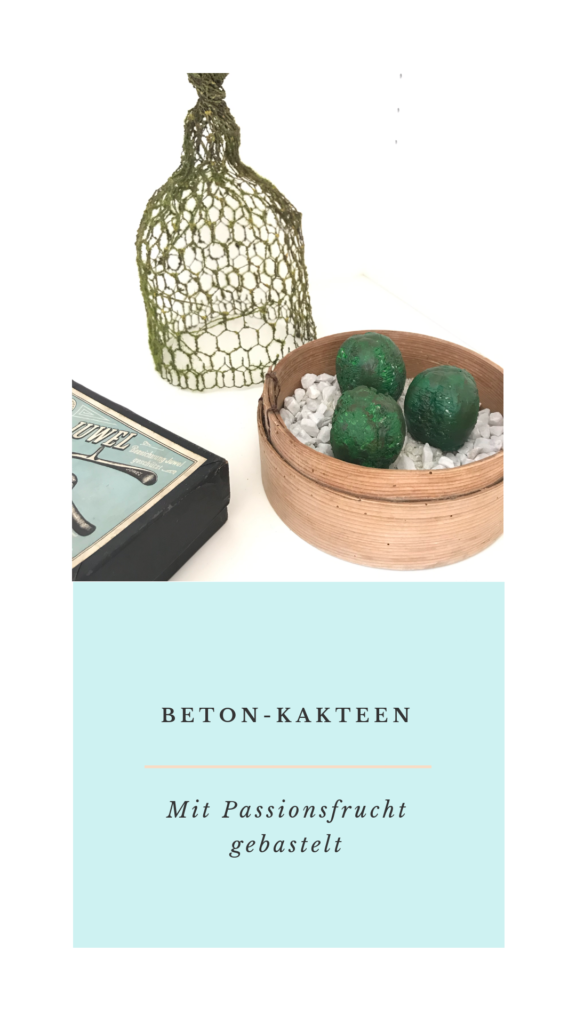 Beton-Kakteen gießen, Beton Deko selber machen, Pflanzen DIY, #Chalet8, #Beton
