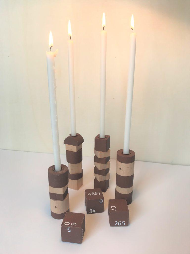 IKEA-Hack Kerzenständer aus Bauklötzen