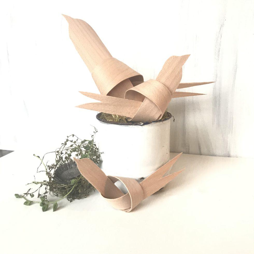 Chalet8/ DIY-Blog/ Furnierholz-Vögel/ Basteln/ Naturmaterial/ Einfach/ Deko