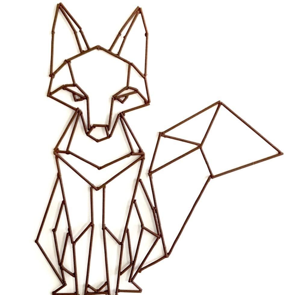 Polygon-Tiere aus Holzstäbchen basteln. Einfaches DIY. #Chalet8, #Polygon