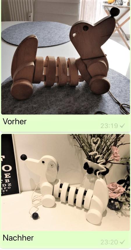 Chalet8/ DIY-Blog/ Upcycling/ Idee/Wackel-Dackel/ Spielzeug