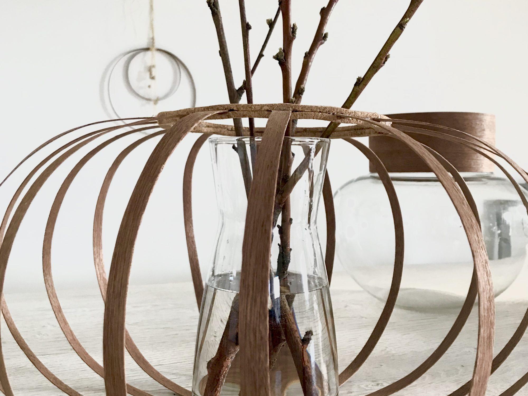 Furnierholz-Husse. Basteln mit Holz, Windlicht und Vasen Upcycling, #Chalet8, #Furnierholz