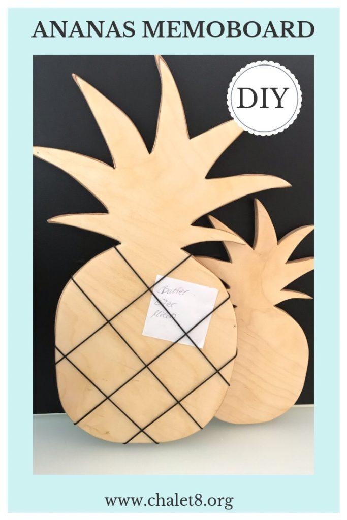 Chalet8, DIY Blog, Bastelanleitung, Basteln mit Holz, Ananas, Holzbrett, Memoboard, Notizbrett, Küchendeko, Sommer, Sommerdeko, Deko, DIY, Fruchtig, Sommerfrucht, Pineapple. #Chalet8, #Ananas