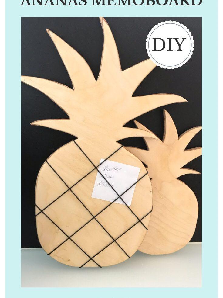 Chalet8, DIY Blog, Bastelanleitung, Basteln mit Holz, Ananas, Holzbrett, Memoboard, Notizbrett, Küchendeko, Sommer, Sommerdeko, Deko, DIY, Fruchtig, Sommerfrucht, Pineapple