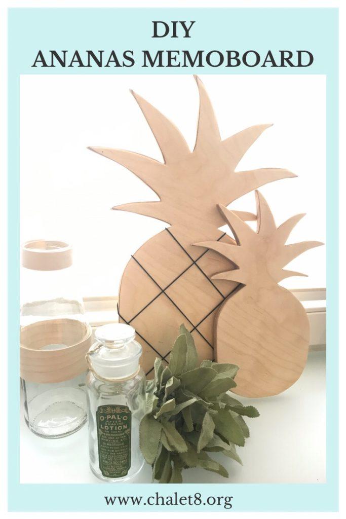 Chalet8, DIY Blog, Bastelanleitung, Basteln mit Holz, Ananas, Holzbrett, Memoboard, Notizbrett, Küchendeko, Sommer, Sommerdeko, Deko, DIY, Fruchtig, Sommerfrucht, Pineapple #Chalet8