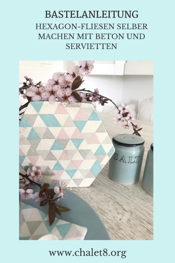 Chalet8/ DIY Blog/ Bastelanleitung/ Beton/ Fliesen/ Servittentechnik/ Schönes individuelles Design passsend zu deinen Servietten