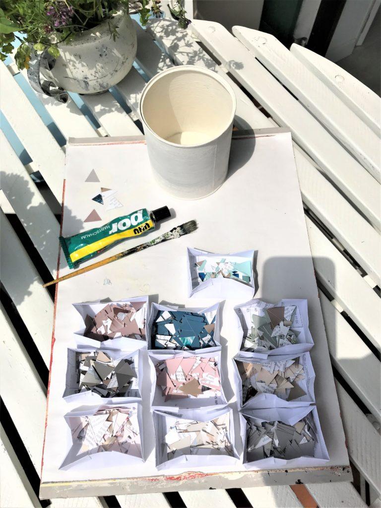 Tolle Upcycling-Idee mit Farbkarten, Chalet8, DIY-Blog, Bastelanleitung, Upcycling, Basteln fast ohne Kosten