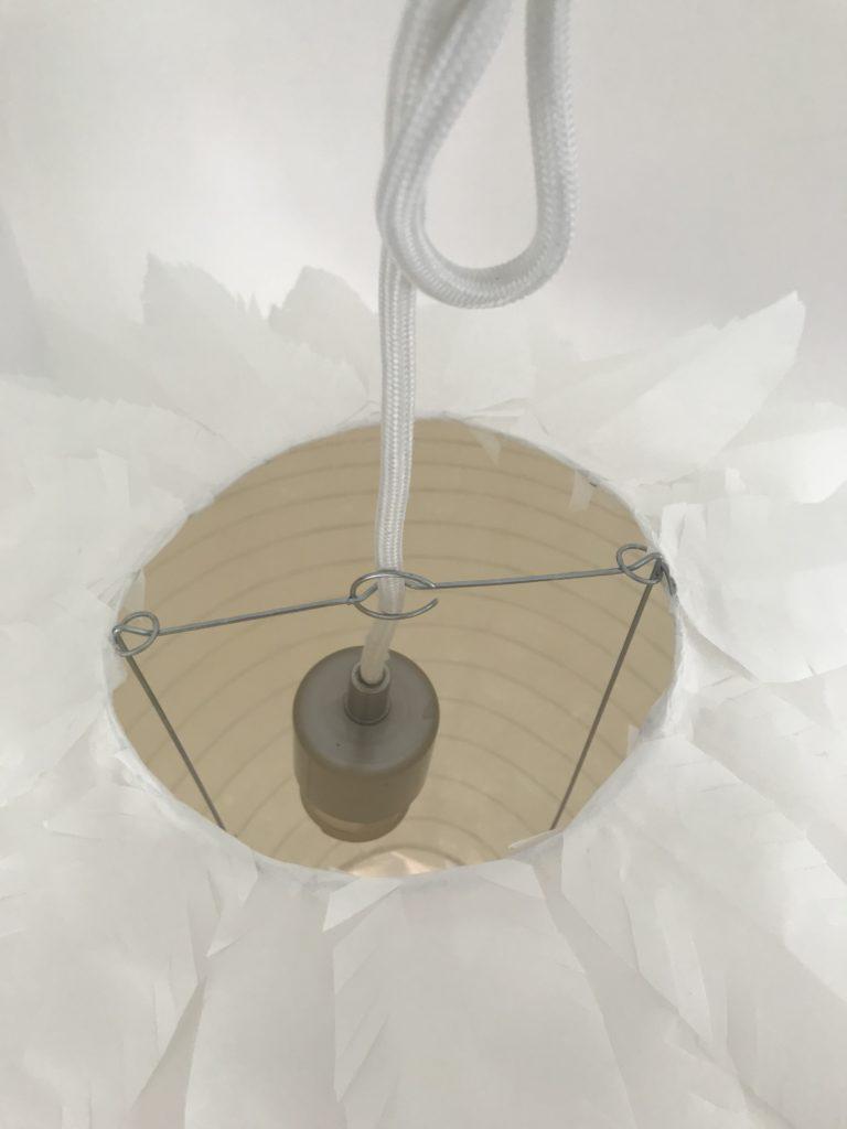 Bastelanleitung für eine Lampe aus Papier . Ansicht von oben, #Chalet8, #DasExplodierteHuhn