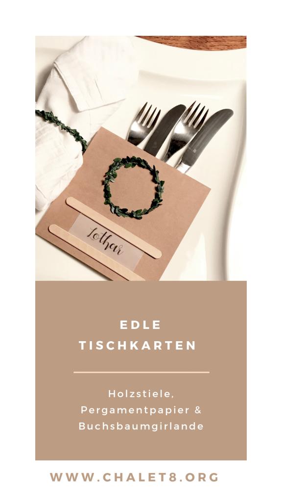 Edle Tischkarten, Platzkarten, Tisch-Deko, DIY, Boho, Chalet8, DIY Blog,