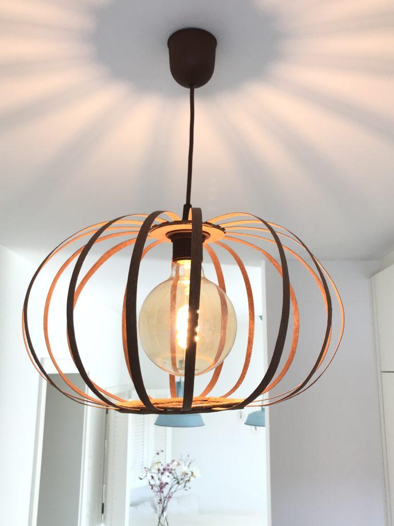 DIY Designerlampe aus Furnierholz ganz leicht nachmachen   Chalet12