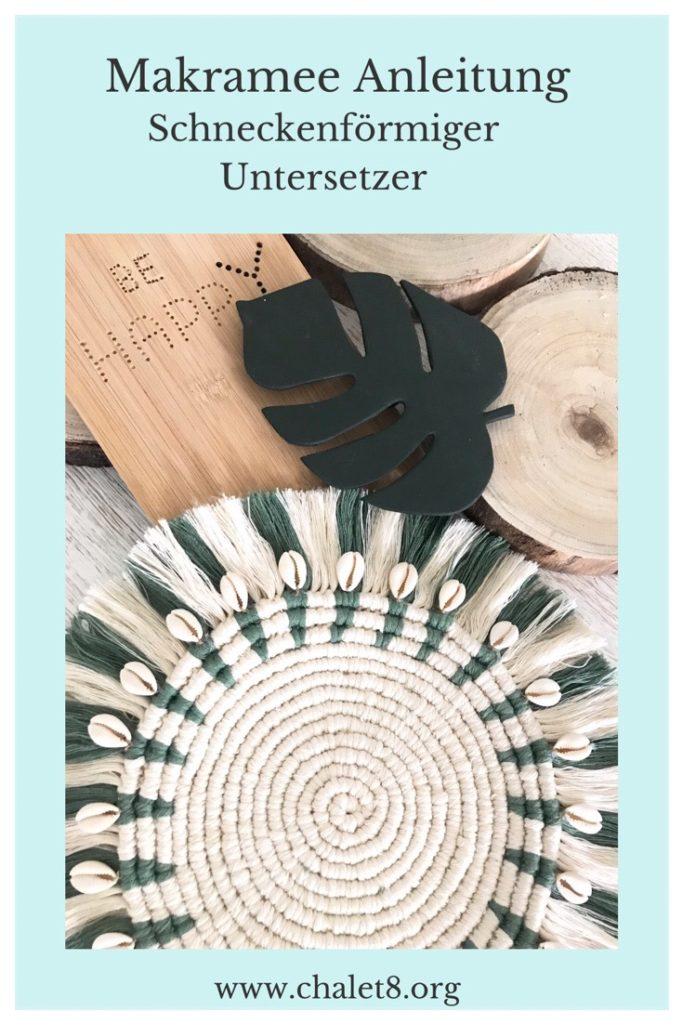 DIY Anleitung für Untersetzer oder Wanddeko aus Makramee Garn, #Untersetzer, #Makramee, #Chalet8