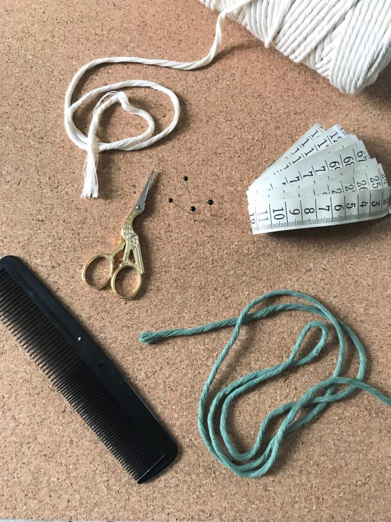 DIY: Material für Makramee Untersetzer