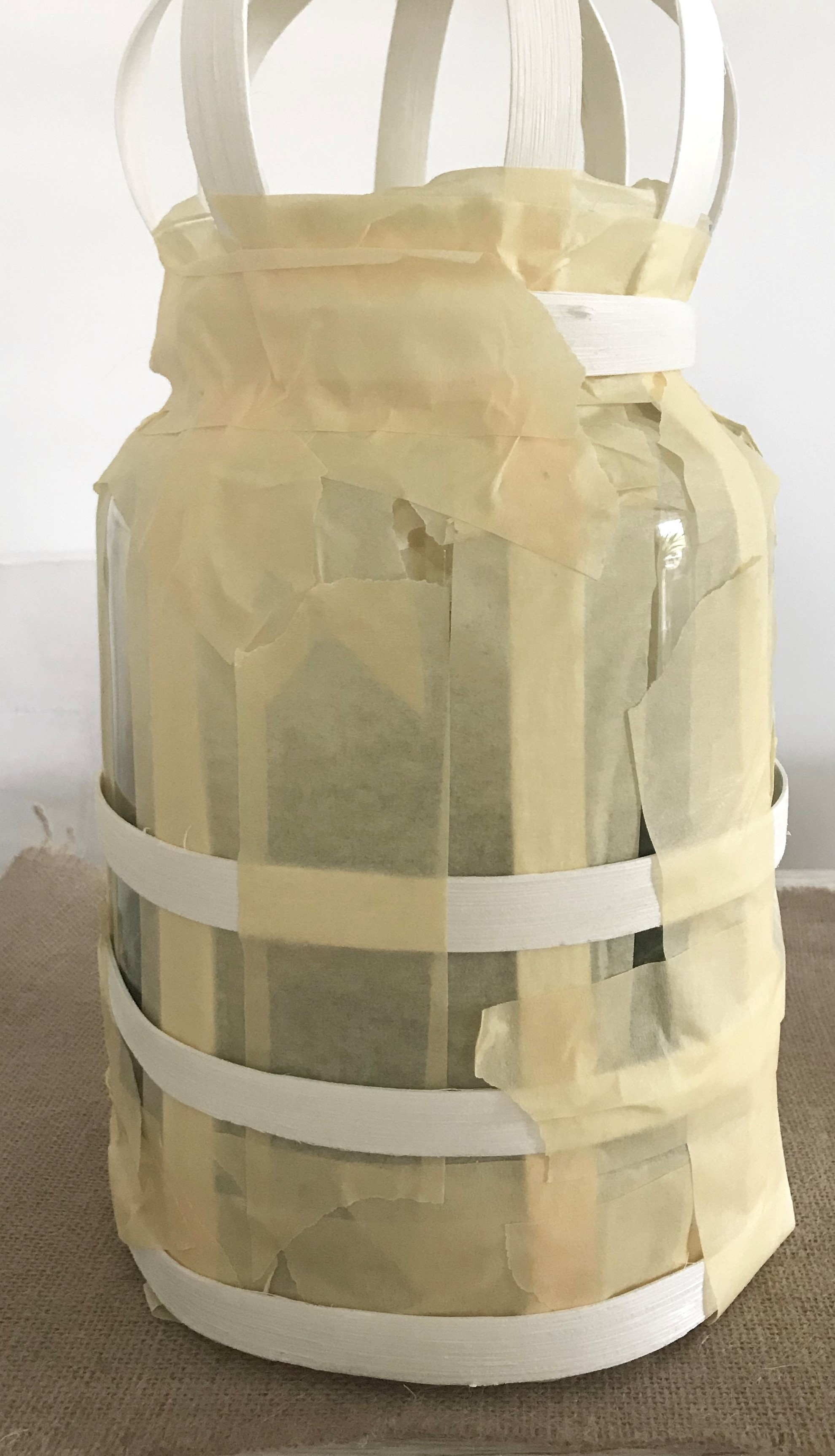 DIY Großes Windlicht aus Rattan im Boho Stil basteln Chalet8