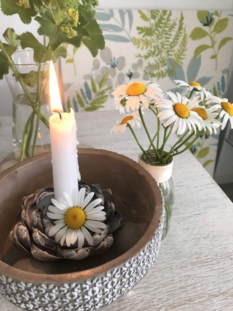 Kerzenständer aus Muscheln selber machen. Venusmuschel. Muscheldeko. #Chalet8, #Muscheldeko