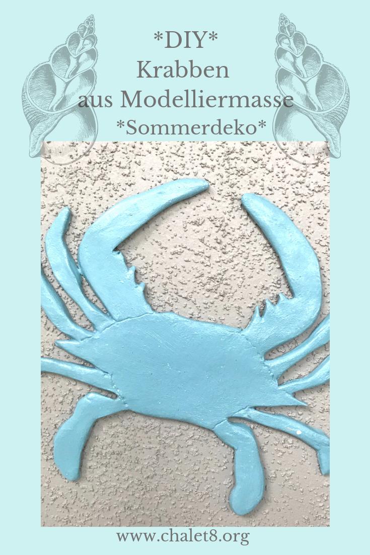 DIY Anleitung: Krabben aus Modelliermasse für die Sommerdeko basteln. #Chalet8, #Modelliermasse