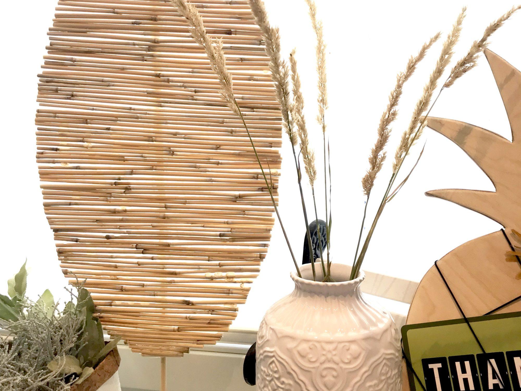 Bambusdeko. Bambusblatt. Dekoblatt aus Bambus basteln. Basteln mit Naturmaterialien. #Chalet8