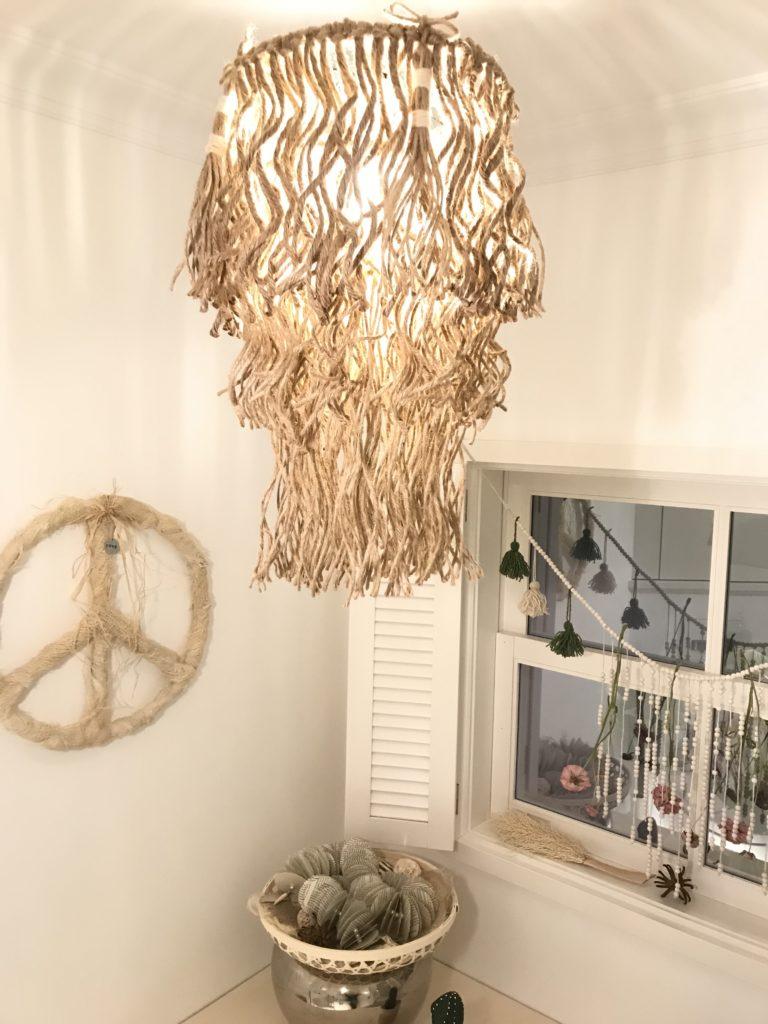 Peace Symbol aus Palmfasern basteln. Basteln mit Naturmaterial. Setze ein Zeichen. Natural Boho Stil. Modern Boho. #Chalet8, # Peacezeichen