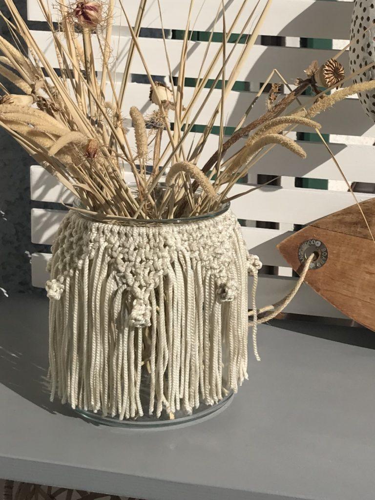Makramee Idee. Vasen Makramee aus Seilkernen. #chalet8 #makramee