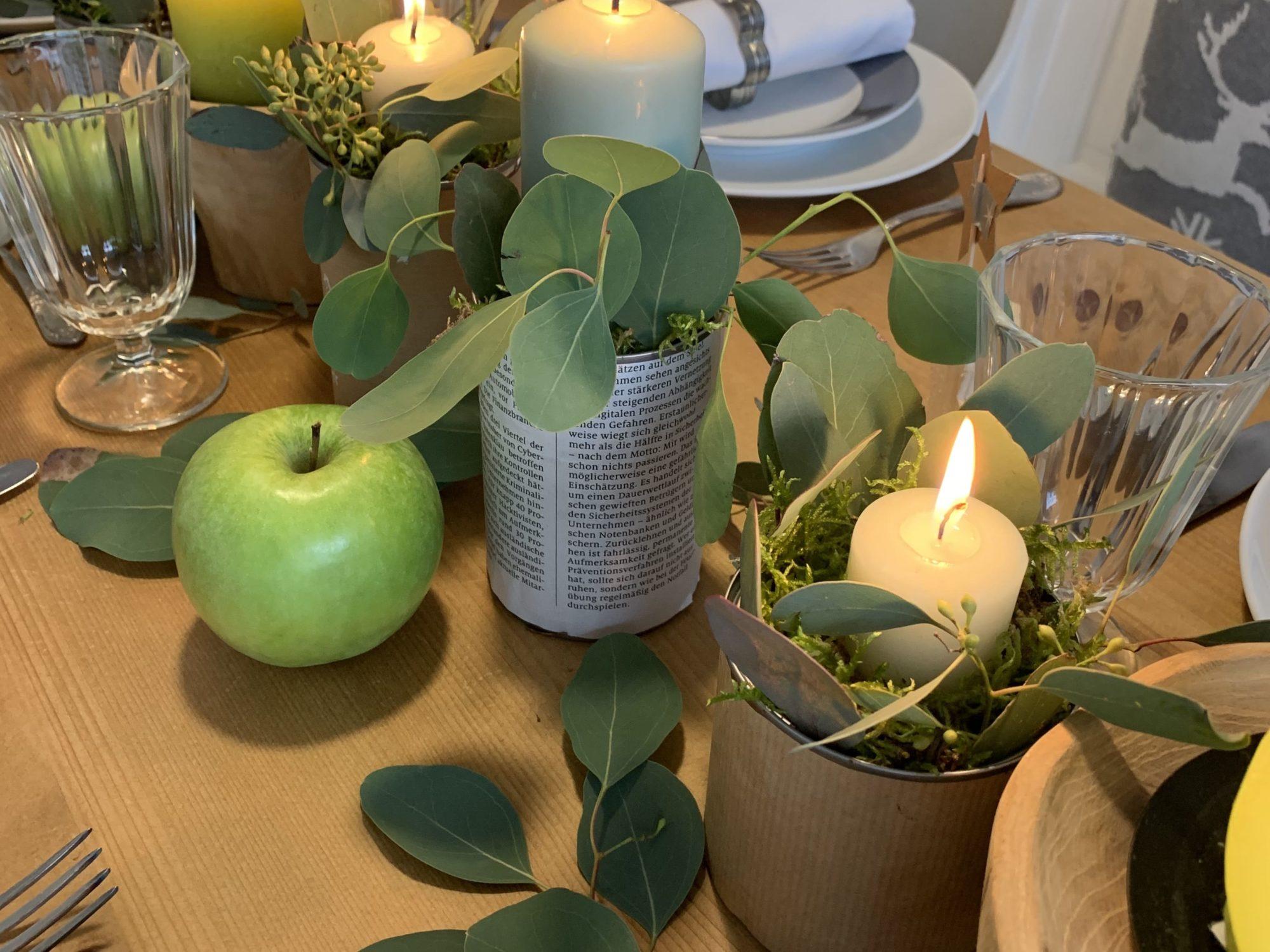 Tischdeko an Weihnachten mit einfachen DIYs. Weihnachtstisch mit Liebe dekorieren. Idee fürTischdekoration an Weihnachten. #Chalet8 #Yeswewood #Tischdeko #Weihnachten