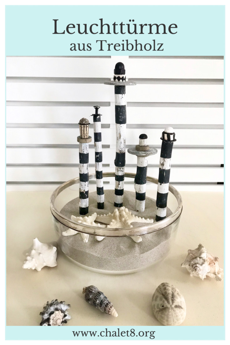 Sommerdeko: DIY Leuchtturm aus Treibholz basteln. Buchvorstellung. Basteln mit Naturmaterial. #chalet8 #sommerdeko #Leuchtturm #Treibholz #Buchvorstellung #Naturmaterial #Naturzauber #PiaPedevilla