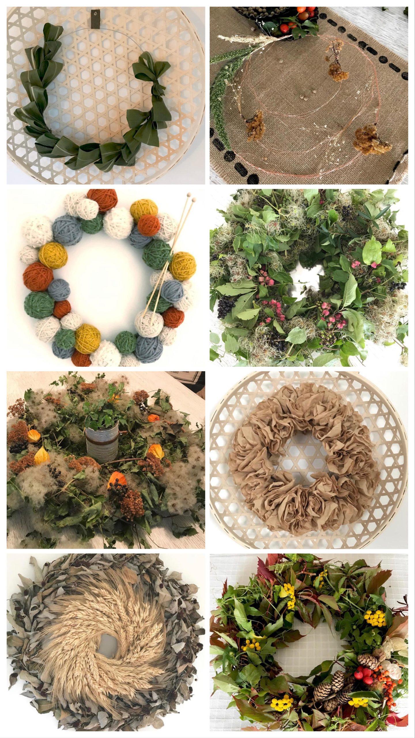 DIY: Kleine DIYs für das ganze Jahr. Kränze für alle Jahreszeiten. Viele schöne Kranz Ideen. Instagram Summary. #chalet8, #Kranz
