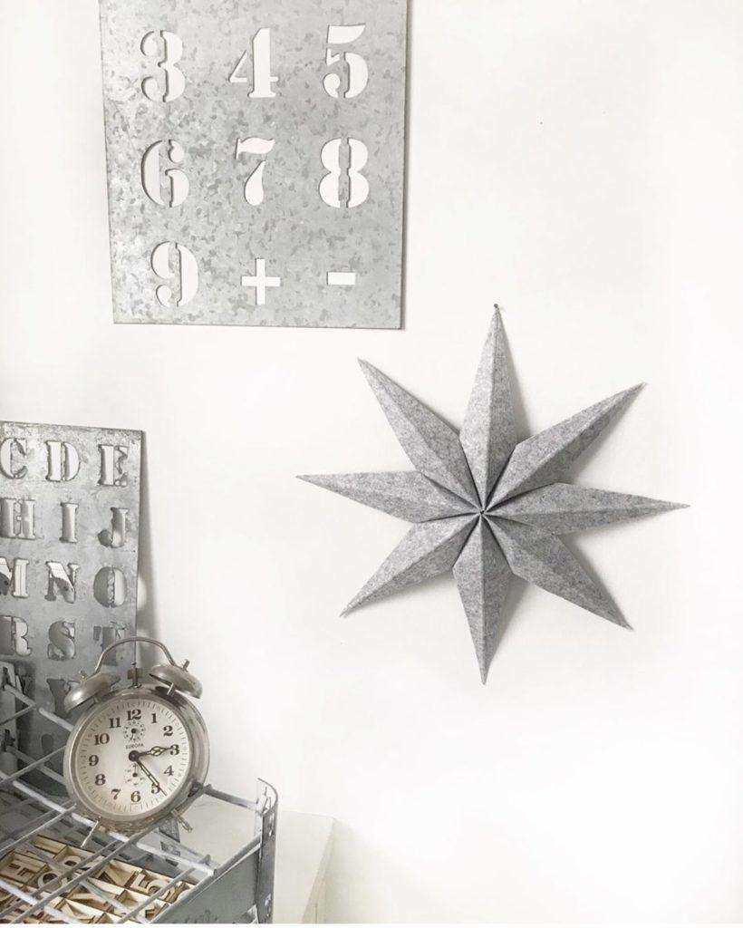 DIY: Kleine DIYs für das ganze Jahr. Winter: Schöner Stern aus Filz zur Weihnachtszeit. #chalet8, #DIYStern