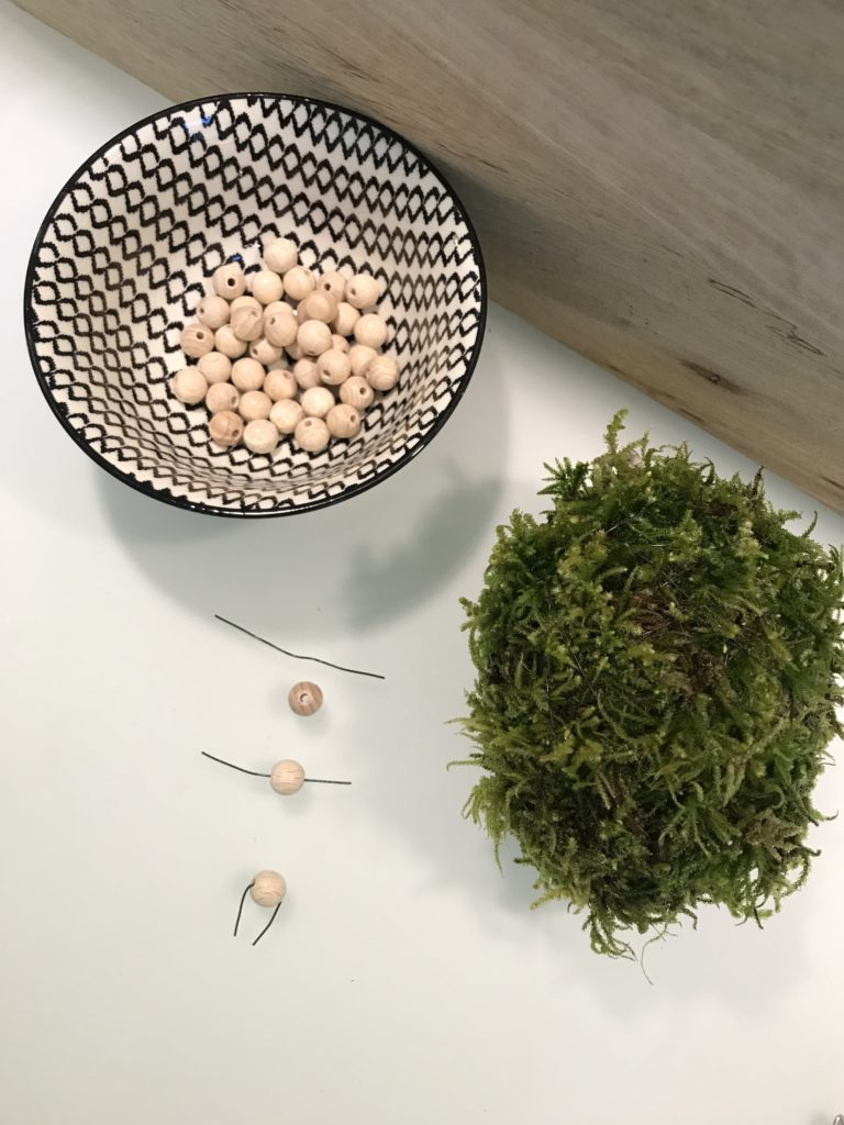 Naturmaterial für Osterei-DIY