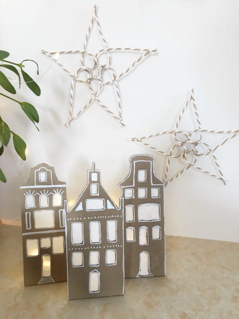 DIY: Stern aus Papierdraht basteln. Einfache und schöne Weihnachtsdeko. #chalet8 #papierdraht #drahtstern
