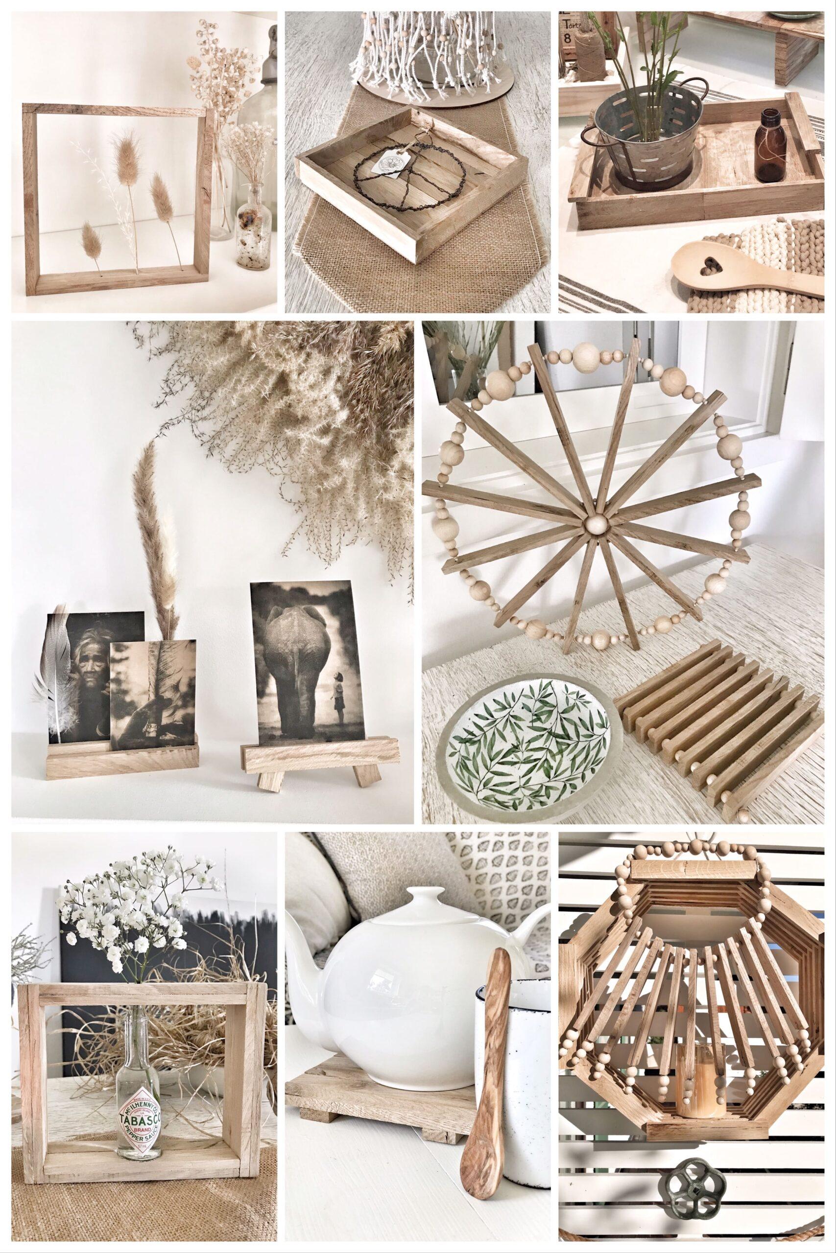 Basteln mit Holz Klötzchen, die auch bekannt sind als: Anzündholz, Anmachholz, Anfeuerholz, Bastelholz oder Stäbchenparkett. #chalet8 #lichthaus #klötzchen #bastelholz #anzündholz #dekohaus